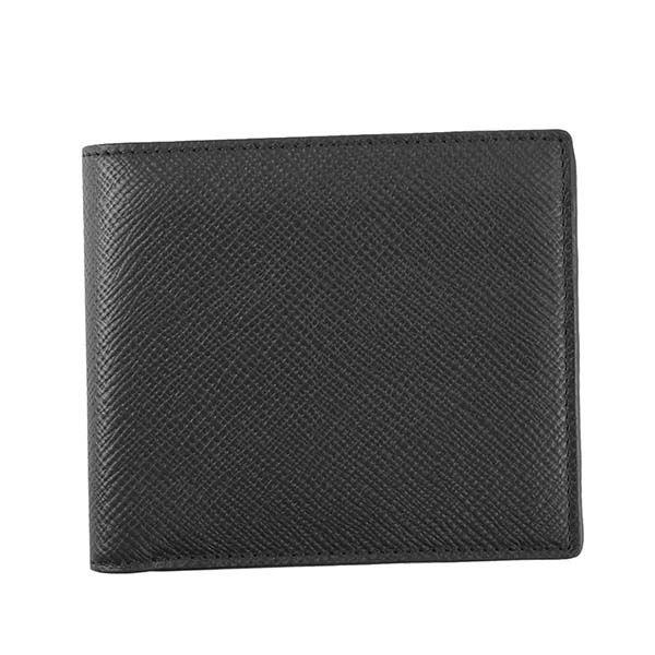 SMYTHSON(スマイソン)2つ折小銭付き財布 1011726 BLACK 送料無料!