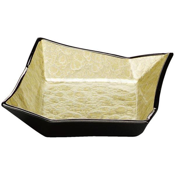 5.2寸 折紙鉢/和食器 【イエローアクアGC塗 (浅) A】 165mm×160mm×50mm 日本製 〔和食 レストラン 店舗 お店〕【代引不可】