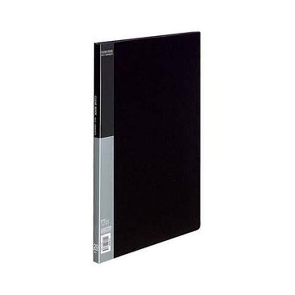 (まとめ)コクヨ クリヤーブック(ベーシック)固定式 B4タテ 20ポケット 背幅17mm 黒 ラ-B24D 1セット(4冊)【×3セット】 送料無料!