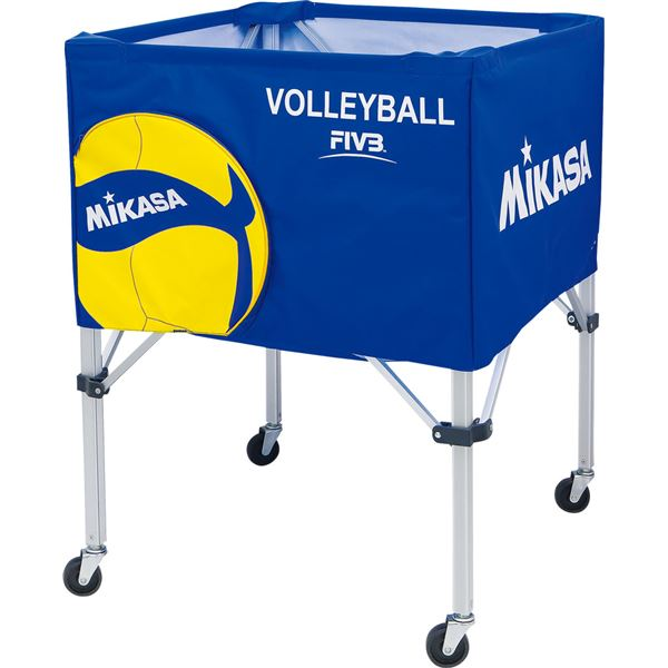 MIKASA(ミカサ)バレーボールアクセサリー ボールカゴ箱型 フレーム・幕体・キャリーケース3点セット【フレーム:高さ89cm】【BCSPSVB2】 送料込!