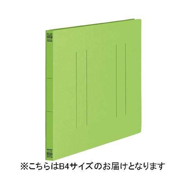 (まとめ)プラス フラットファイル縦罫B4E No012NT LGR 10冊【×30セット】 送料込!