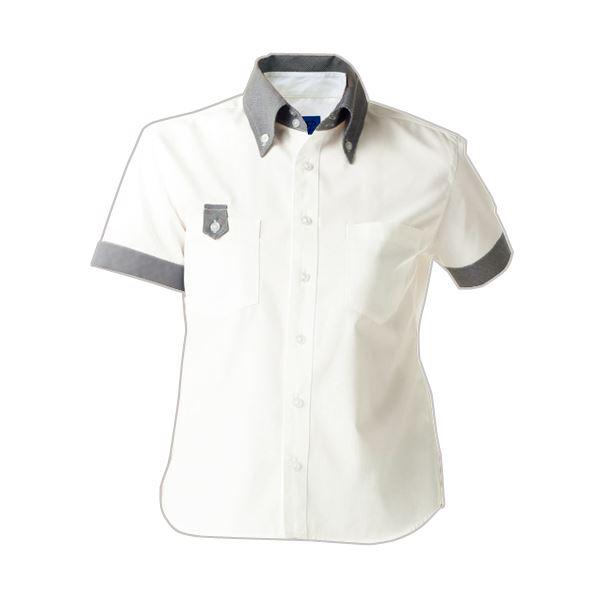 (まとめ) セロリー 半袖シャツ(ユニセックス) Sサイズ ホワイト S-63408-S 1枚 【×5セット】 送料無料!