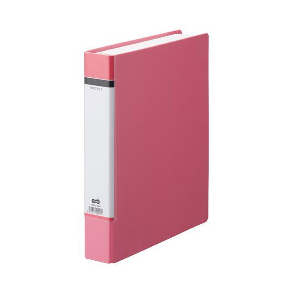 (まとめ) TANOSEE Oリングファイル(貼り表紙) A4タテ 2穴 330枚収容 背幅53mm ピンク 1冊 【×30セット】 送料込!