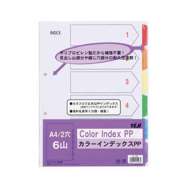 (まとめ)テージー カラーインデックスPP 2穴6山 5組 IN-1406【×30セット】 送料込!