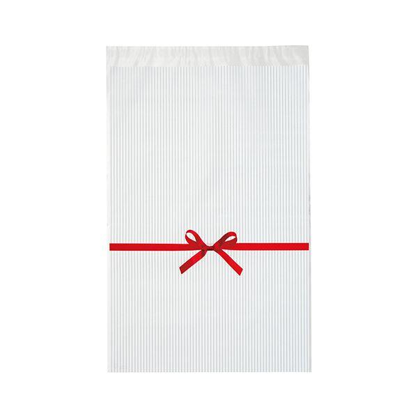 (まとめ) ヘッズ リボンテープ付OPPバッグ 白RI-TO1 1パック(50枚) 【×10セット】 送料無料!