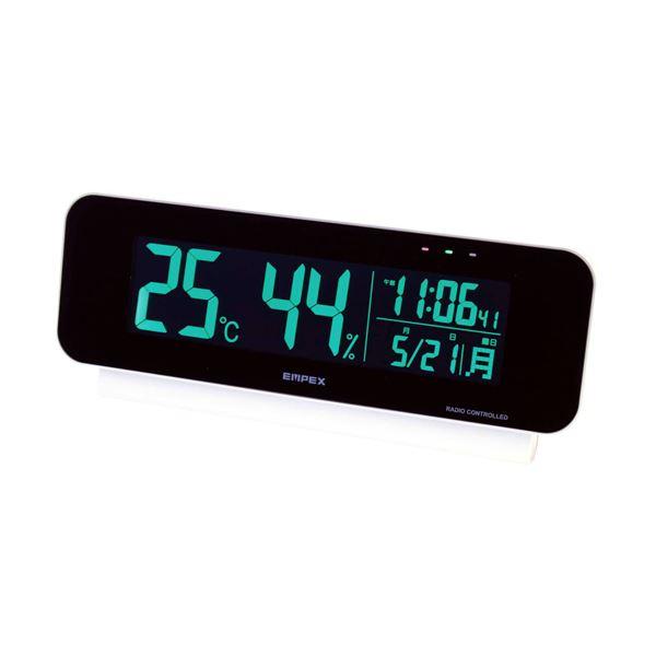 電波時計付デジタル温・湿度計 C10631571 送料無料!