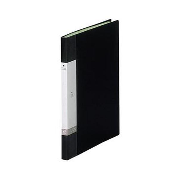 (まとめ)リヒトラブ リクエスト クリヤーブックA4タテ 20ポケット 背幅16mm 黒 G3201-24 1セット(10冊)【×5セット】 送料無料!