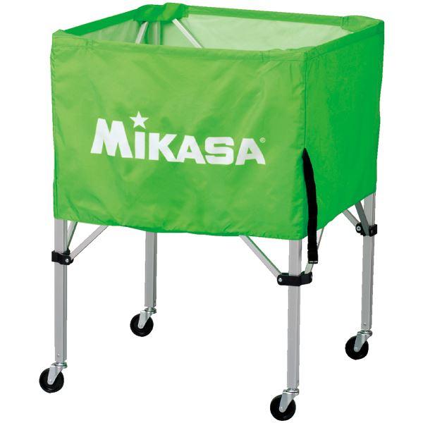 MIKASA(ミカサ)器具 ボールカゴ 箱型・中(フレーム・幕体・キャリーケース3点セット) ライトグリーン 【BCSPS】 送料込!