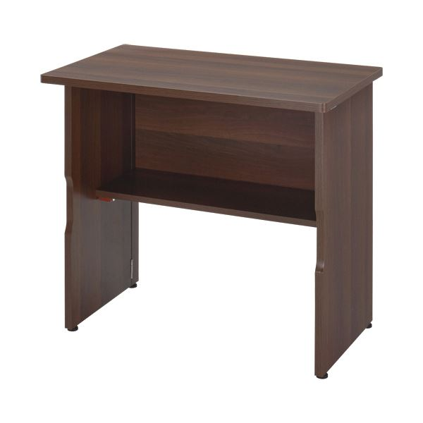 おすすめ特集 組み立て不要の折りたたみ式なのに 書斎にも置ける本格デスク YAMAZEN 木製折りたたみテーブル 幅800×奥行460×高さ705mm 1台 MOT-8045WL 送料込 ウォルナット 好評