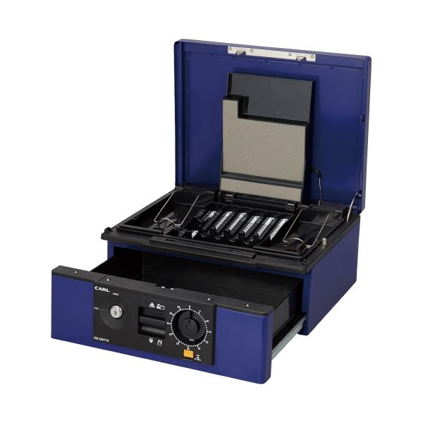 カール事務器 キャッシュボックス CB-D8770-B ブルー 送料無料!