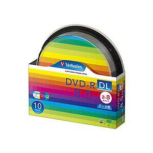 (まとめ) バーベイタム データ用DVD-R DL 8.5GB ワイドプリンターブル スピンドルケース DHR85HP10SV1 1パック(10枚) 【×5セット】 送料無料!