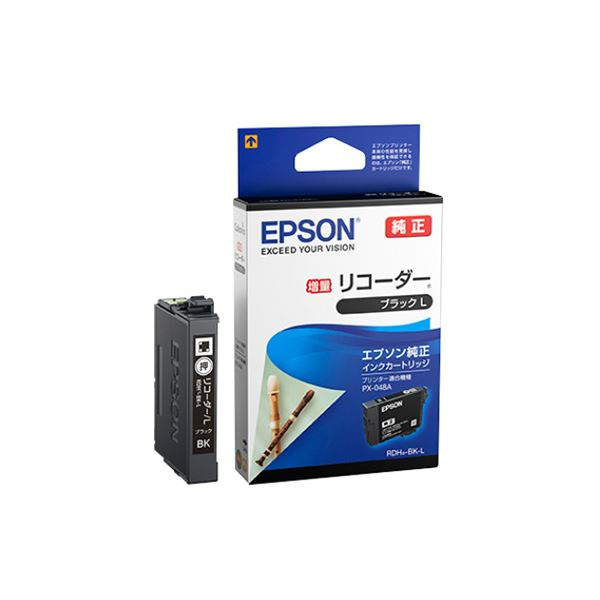 (まとめ) エプソン インクカートリッジ リコーダーブラック増量 RDH-BK-L 1個 【×10セット】 送料無料!