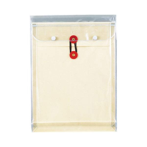 (まとめ) ピース マチヒモ付ビニール保存袋 レザック 角2 184g/m2 白 911 1枚 【×30セット】 送料無料!