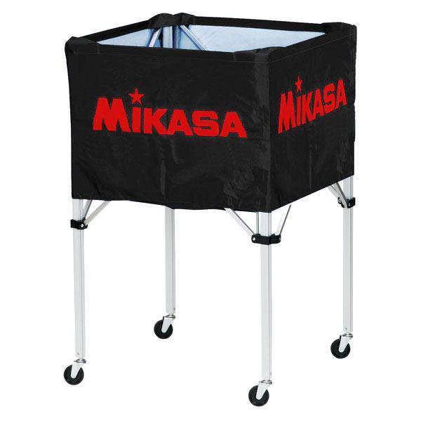 MIKASA(ミカサ)器具 ボールカゴ 箱型・大(フレーム・幕体・キャリーケース3点セット) ブラック 【BCSPH】 送料込!