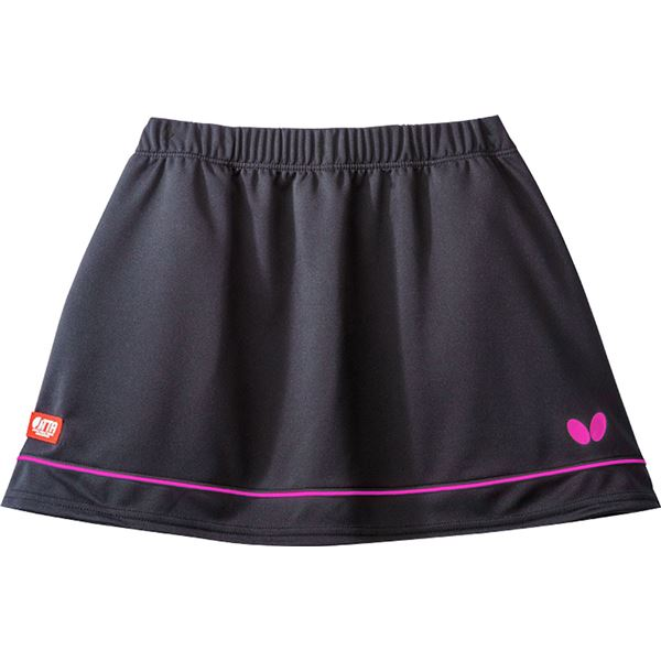 Butterfly(バタフライ) 卓球ゲームスカート RETIA SKIRT レティア・スカート レディース用 ブラック×ピンク XO 送料込!