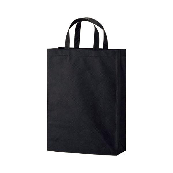 (まとめ) TANOSEE 不織布バッグ 中 ヨコ320×タテ450×マチ幅120mm ブラック 1パック(10枚) 【×10セット】 送料無料!