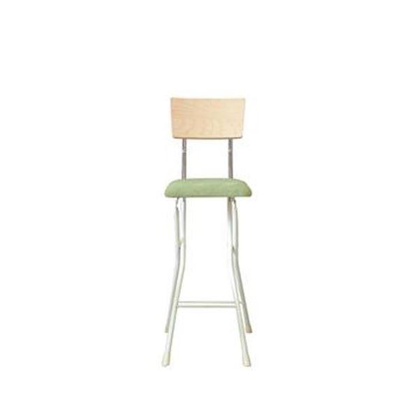 折りたたみ椅子 【1脚販売 ナチュラル×グリーン×ミルキーホワイト】 幅37cm 日本製 スチールパイプ 【代引不可】 送料込!