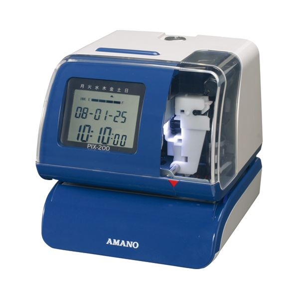 アマノ 電子タイムスタンプ 電波時計内蔵PIX-200 1台 送料無料!
