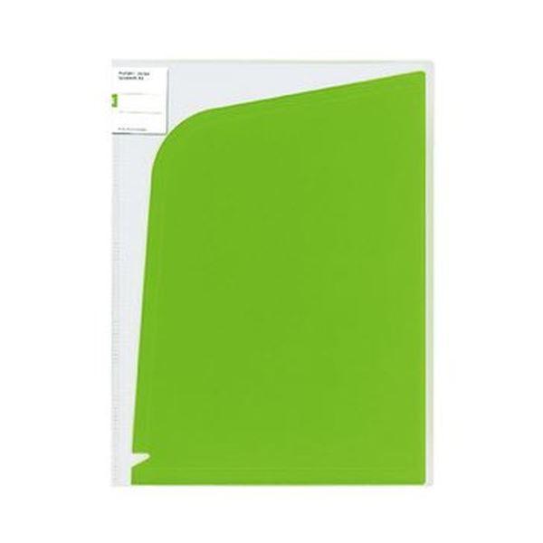(まとめ)コクヨ ホルダーブック(ポケット:4)A4(A3)黄緑 フ-5702YG 1セット(5枚)【×10セット】 送料無料!