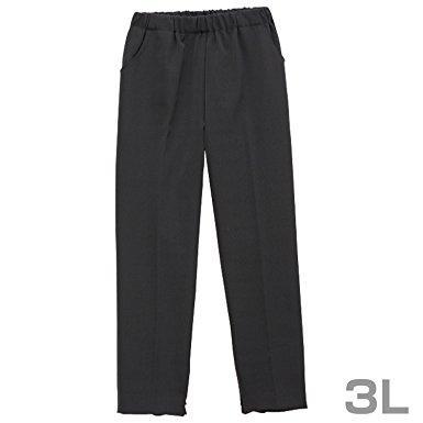ファスナー付きパンツ 婦人 ブラック 3L CH050711A90
