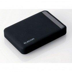 USB3.0 ポータブルHDD ハードウェア暗号化 パスワード保護 500GB(ELP-EEN005UBK)