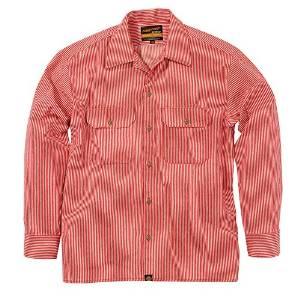 93158 NHB-1503ワークシャツ/Hレッド L