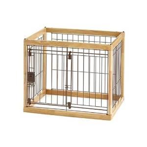 Richell(リッチェル) 木製ペットサークル 60-50 小型犬用 【ナチュラル】