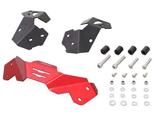 ヘッドライトガード(赤) モンキー125(JB02) 品番:800-1300920