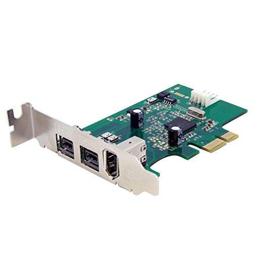 ロープロファイル対応FireWire x3増設PCIeカード PEX1394B3LP(PEX1394B3LP)