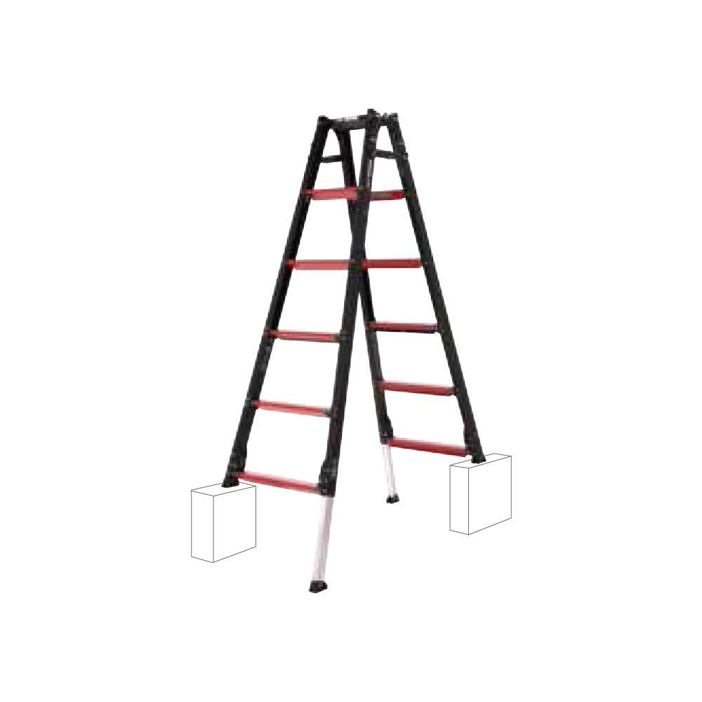 GUD上部操作式伸縮脚付はしご兼用脚立(GUD-180)