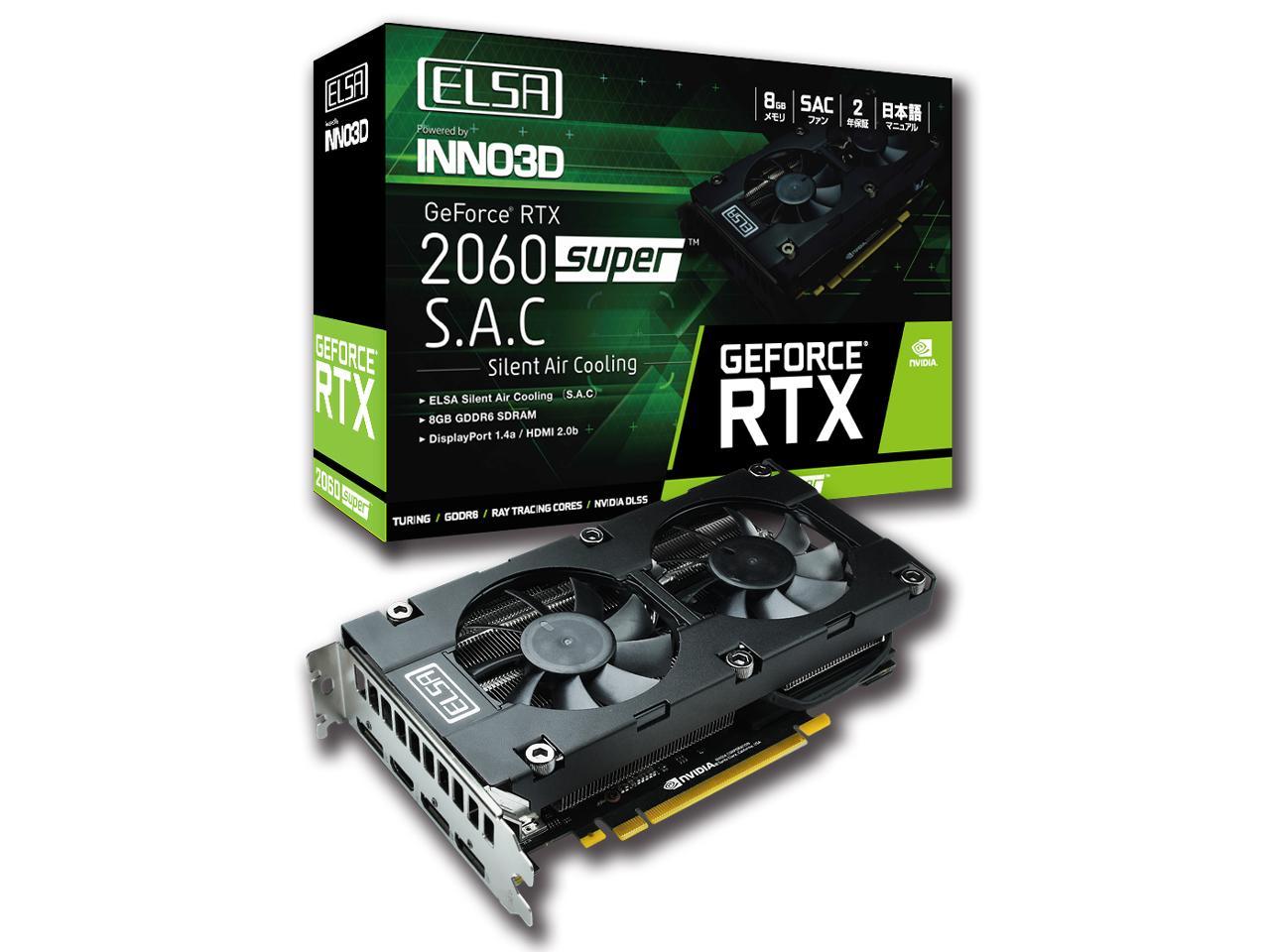 ELSA GeForce RTX 2060 Super S.A.C