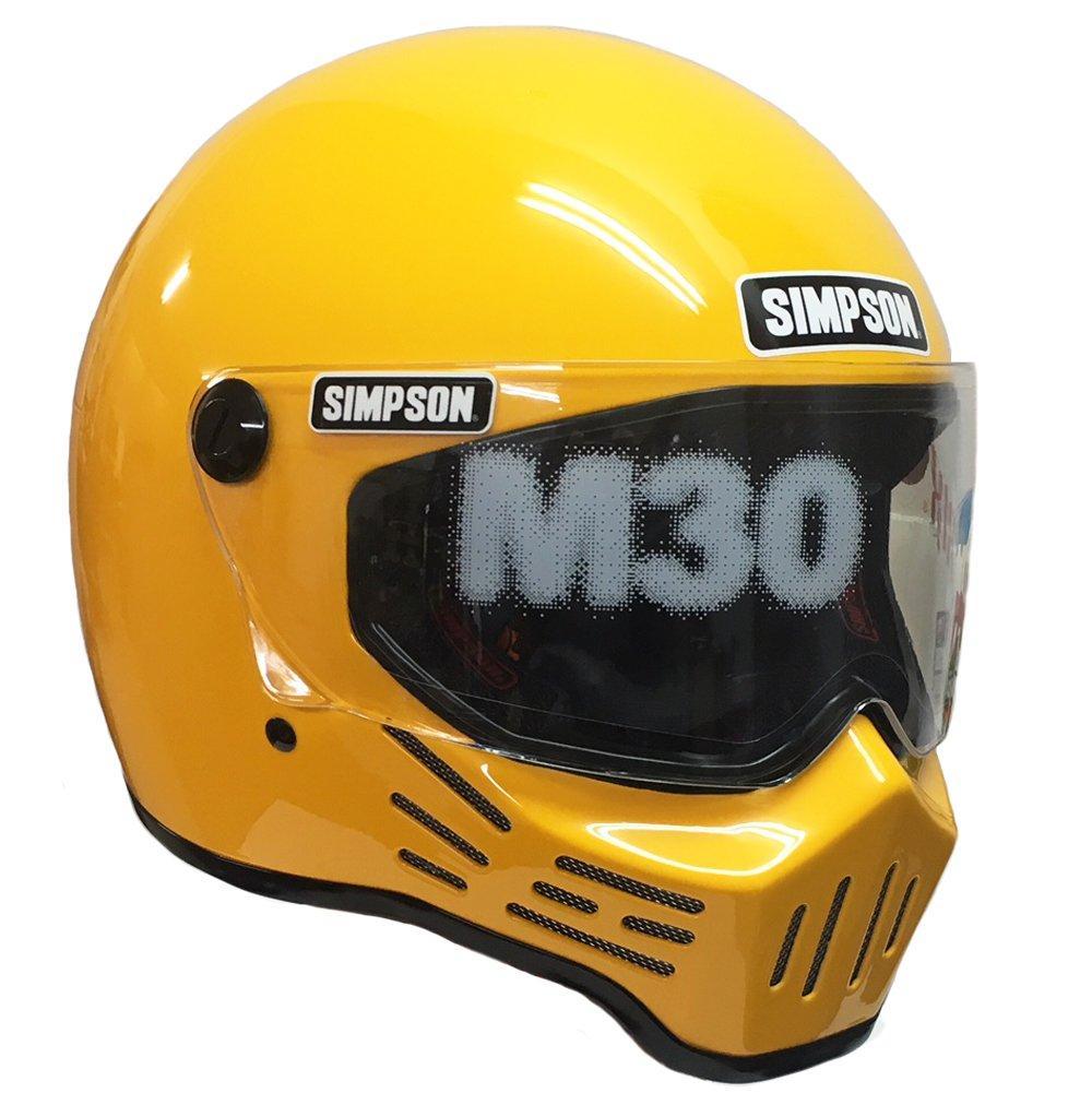 シンプソンヘルメット SIMPSON ラッピング無料 M30 イエロー 8 低廉 7-3 59 3305195900