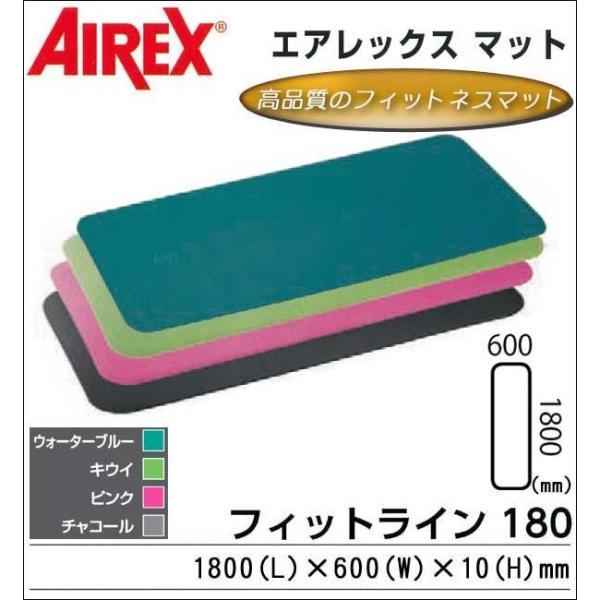 AIREX R エアレックス マット 予約販売品 フィットネスマット 波形パターン FITLINE180 フィットライン180 1066374 C 送料込み チャコール 新品■送料無料■ AML-480