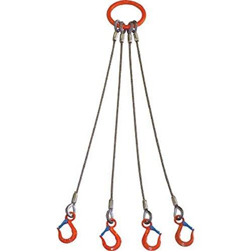 お歳暮 卸直営 大洋 4本吊 ワイヤスリング 5t用×2m 4WRS5TX2