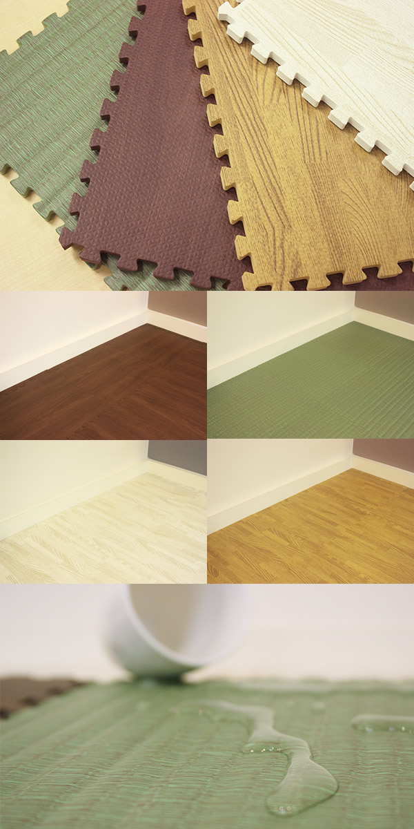 About the friendly joint mat natural one tatami: parted regular size (30 cm x 30 cm) Whitewood (white wood) [matte baby cushion mat] shipping included!