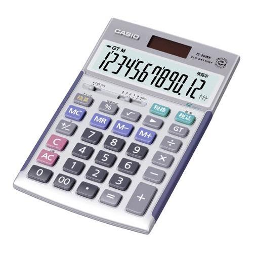 【送料込!】カシオ 本格実務電卓 JS-20WK 1コ入 【※送料込の価格です。】