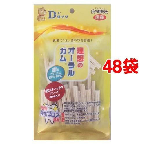 【送料込!】オーラルガム 桜型スティックP ミルク 30本入*48コセット 【※送料込の価格です。】