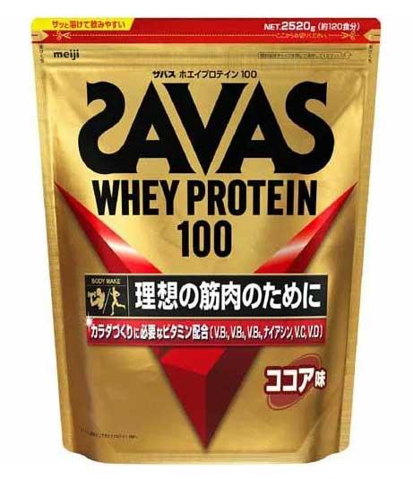 【送料込!】ザバス ホエイプロテイン100 ココア味 約120食分(2.52kg)【代引不可】【※送料込の価格です。】