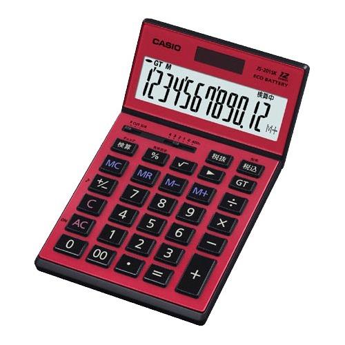 【送料込!】カシオ 電卓JS-201SK-RD(1台)【代引不可】【※送料込の価格です。】