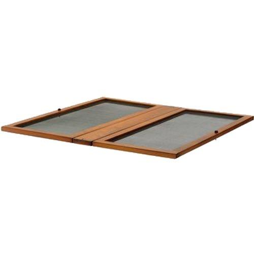【送料込!】リッチェル 木製スクエアペットルーム 90-90 屋根面 ダークブラウン(1コ入)【代引不可】【※送料込の価格です。】