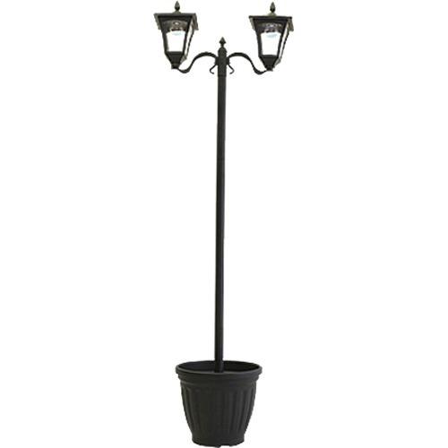 【送料込!】植木鉢付きソーラー街灯 2灯 【※送料込の価格です。】 【ファミリー・ライフ】【家電】