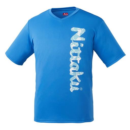 日本卓球 Nittaku 卓球 迅速な対応で商品をお届け致します ウェア 実物 ビーロゴTシャツ-2 B-LOGO T-SHIRT-2 ブルー 09 ピンポン SS 部活動 クラブ活動 NX-2097