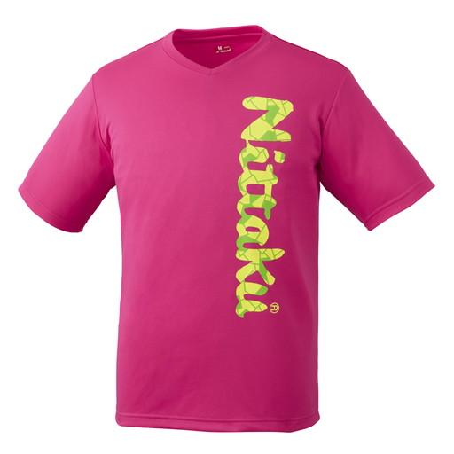 日本卓球 Nittaku 卓球 低価格化 ウェア ビーロゴTシャツ-2 B-LOGO T-SHIRT-2 M 21 クラブ活動 部活動 NX-2097 ピンポン 買物 ピンク