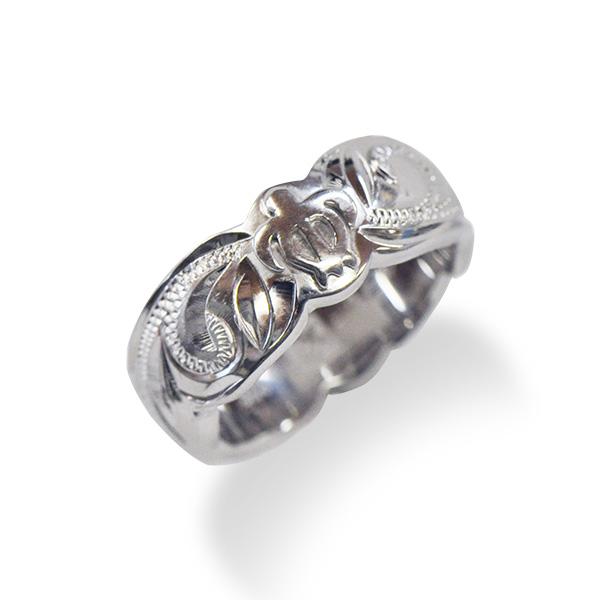 【送料無料】hoo ハワイアンジュエリー ホヌ リング 指輪 シルバー ロジウム加工 リング hoo-0001
