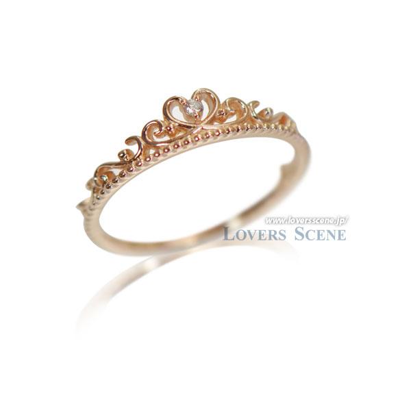 【送料無料】10金ピンクゴールド ダイヤモンド ティアラリング Lovers & Ring ラバーズリング リング レディース 指輪 重ね付け 10金 K10 ピンクゴールド ダイヤモンド LSR6003DPK
