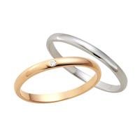 【刻印無料】【ペア販売】Lovers&Ring ラバーズリング ピンクゴールド&ホワイトゴールド 10金ペアリング【LSR0601DPK-WG】【ペアリング 指輪 ダイヤモンド 対応 プレゼント ギフト リング ジュエリー ダイヤ レディース 】ホワイトデー お返し