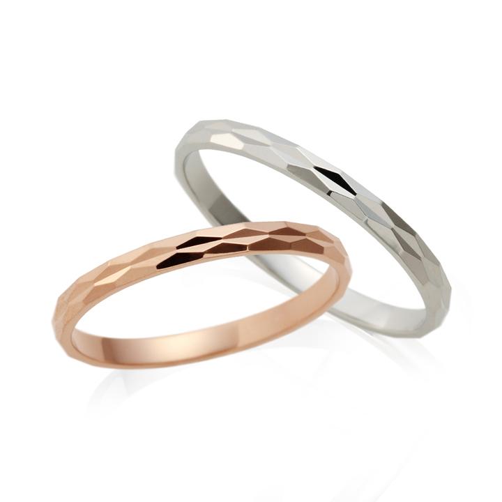 【刻印無料】Lovers&Ring ラバーズリング ピンクゴールド&ホワイトゴールド 10金ペアリング【LSR0608PK-WG ペアリング ペア 指輪 プレゼント リング アクセサリー ジュエリー ギフト 刻印】普段使い