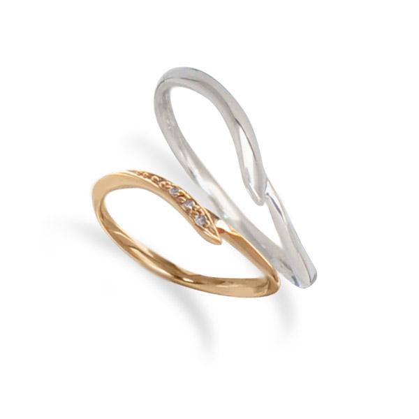 【送料無料&刻印無料】【ペア】Lovers&Ring ラバーズリング ピンクゴールド&ホワイトゴールド 10金ペアリング LSR0653DPK-WG ペアリング 指輪 ダイヤモンド プレゼント リング アクセサリー ジュエリー ダイヤ ギフト 普段使い