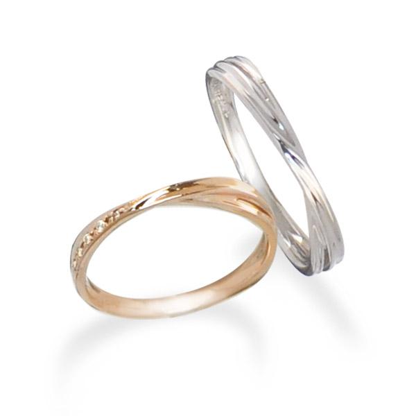 【刻印無料】ペアリング 刻印 Lovers&Ring ラバーズリング 10金 ペア リング LSR0656DPK-WG ペアリング ダイヤモンド リング プレゼント ギフト レディース メンズ 普段使い 刻印 名入れ 彼女 プレゼント カップル お揃い