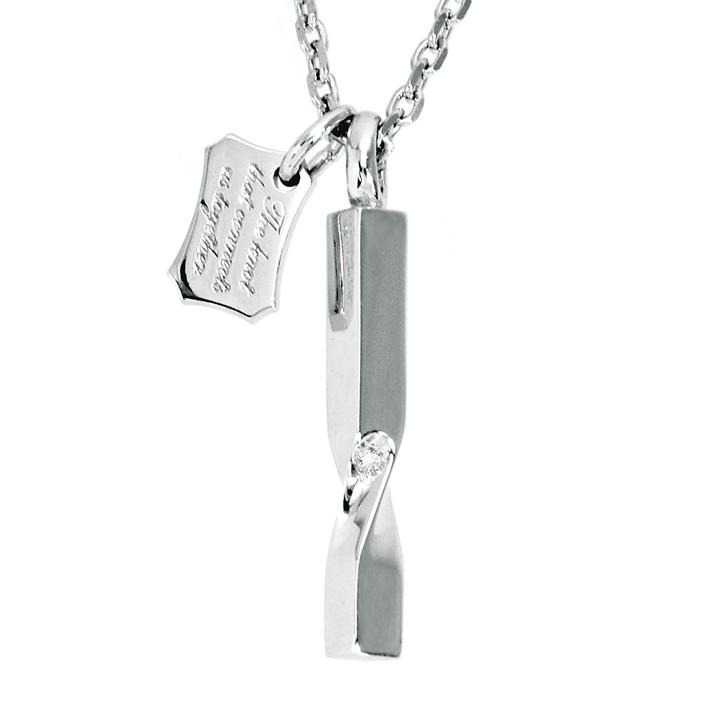 ダイヤモンド ネックレス レディース ハート 合わせると ハート LOVERS SCENE ラバーズシーン シルバーペンダント LSP0085DLRM-40 シルバーネックレス レディース ペンダント ロジウム加工 プレゼント ダイヤ ギフト かわいい プレゼント 女性 普段使い